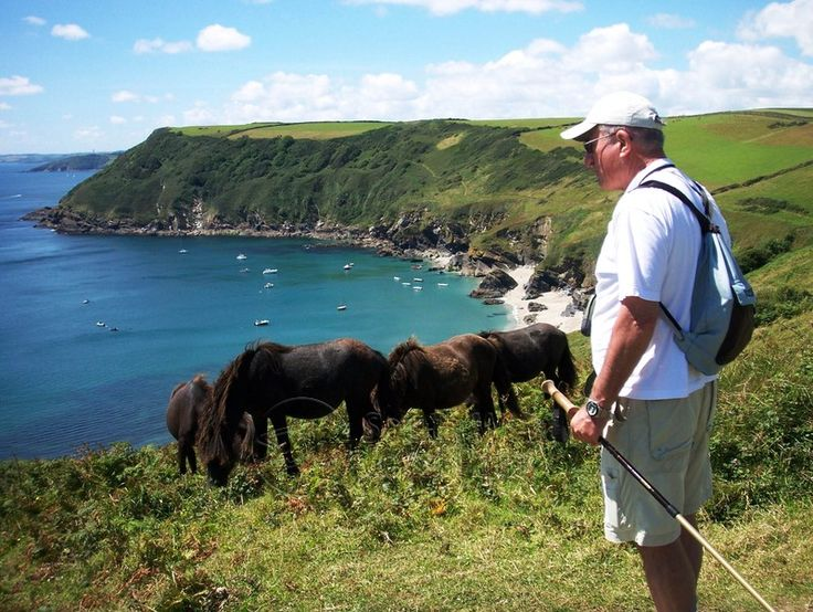 Pause for a break at Lantic Bay, Cornwall. Photographer Rosemary Spooner, Torquay