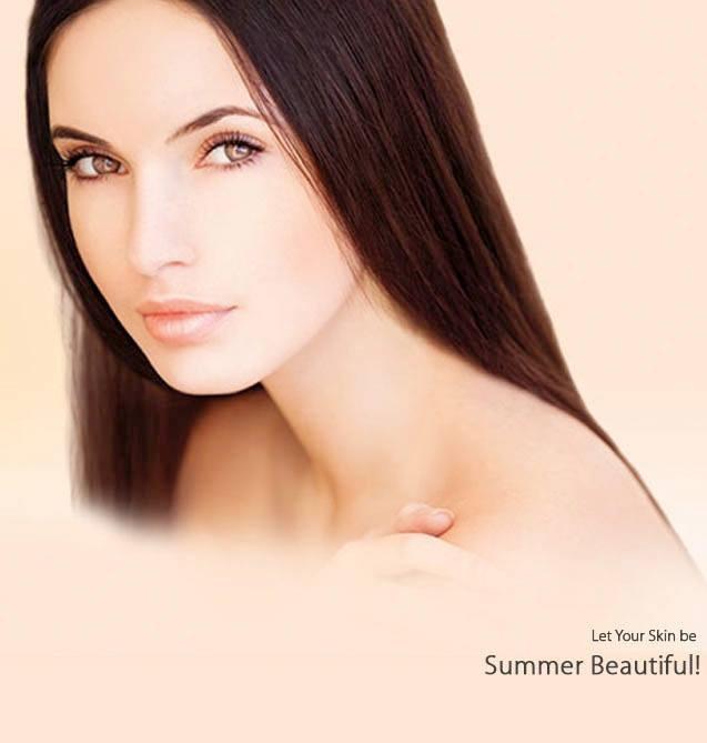 Lighten up! Let your skin be summer beautiful.
