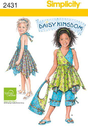 Simplicity Sewing Pattern 2431 Child's Dresses, « Dress Adds Everyday