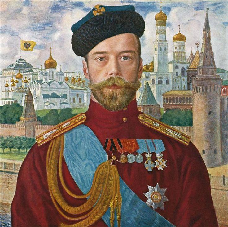 Tsar Nicholas II - Boris Kustodiev, 1915