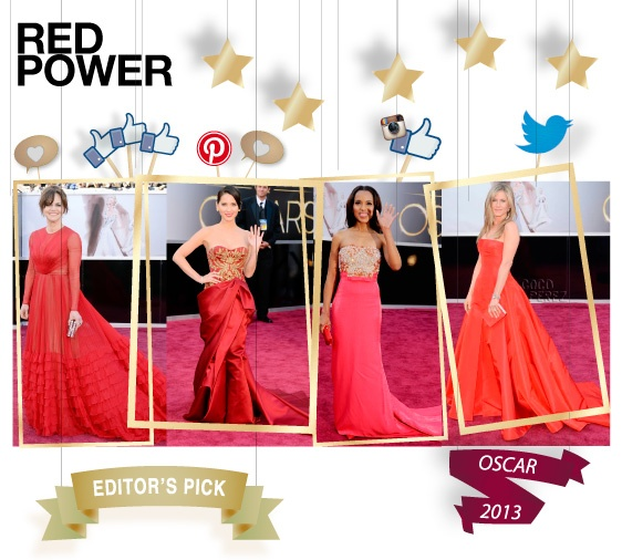 Red power - editor's pick - shopthemagazine.com #oscars2013