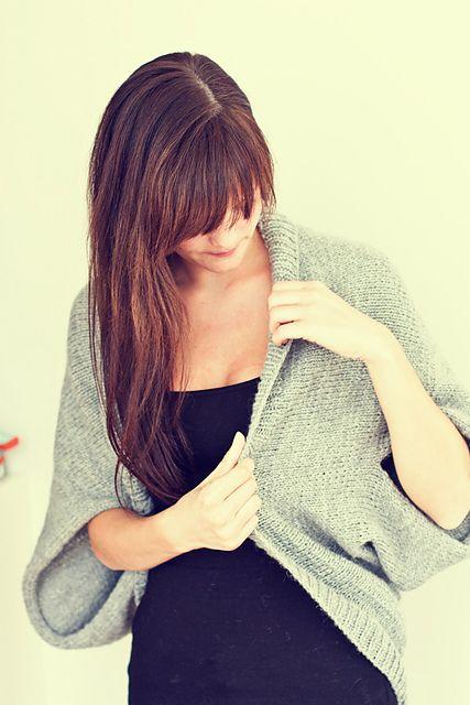 Free Glitter knit shrug pattern