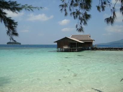 Cottage at Tengah Island, Karimun Jawa, Indonesia