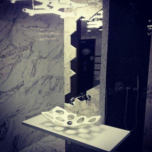 MyBath Penta washbasin  www.mybath.pl  #mybath #corian #bathroom #interiordesign