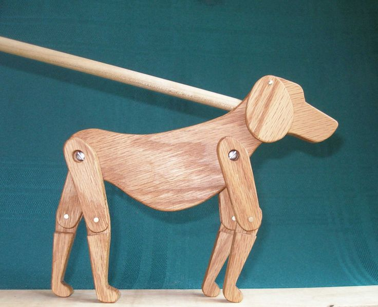 Limberjack Dog with dancing board and stick.