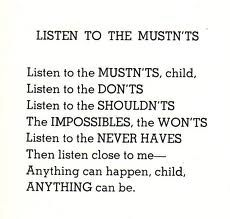 listen...Inspiration, Quotes, Mustnt, Favorite Poems, Things, Listening, Living, Shel Silverstein, Shelsilverstein