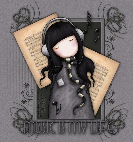 """Music is my Life"" | Soy adicta a los diseños de Suzanne Woolcott : Las Gorjuss"