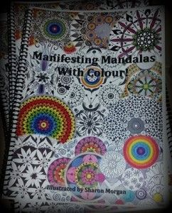 Mandalas to Colour!  Beautiful Hand drawn mandalas,  printed into a fabulous ringbound colouring book.  South Australian artist.