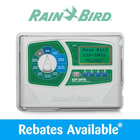 "The closest thing to ""set it and forget it"" you're going to see, short of hiring an irrigation specialist to monitor your water use all the time. The Rain Bird ESP-SMTe Smart Controller considers loads of climate, plant, and soil conditions before deciding how much or how often to water your plants. Best controller on the market for homeowners."