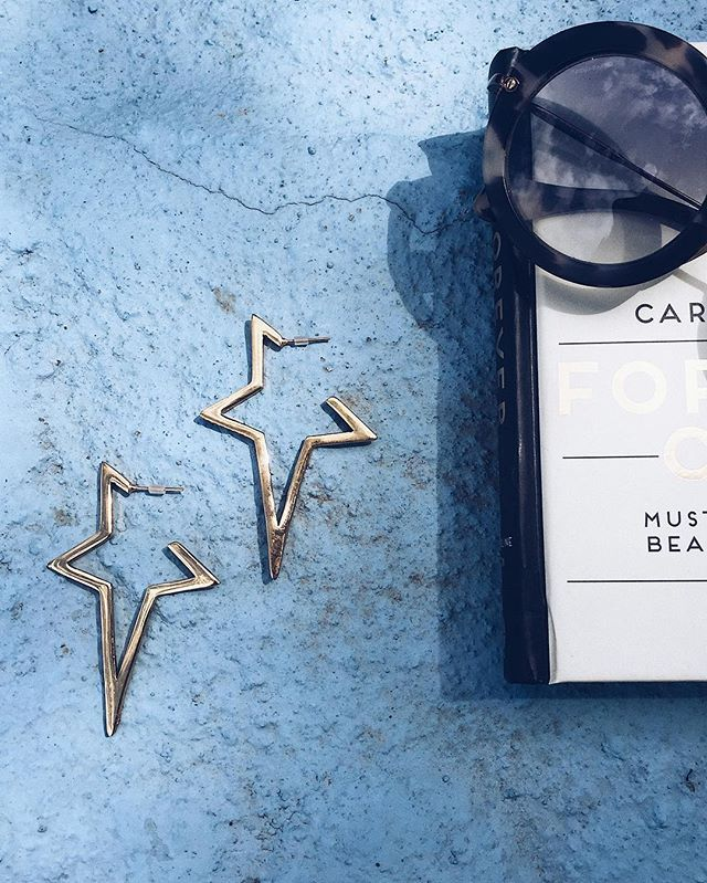 GOLD STAR EARRINGS    #fashion #jewellery #designer #earrings