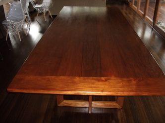 Cherrywood dining table a modern twist