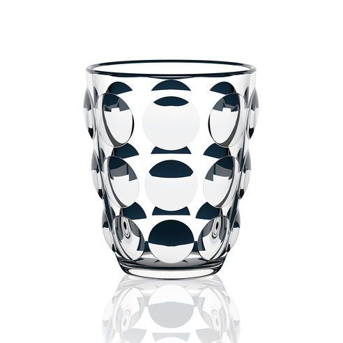 Italesse | Set of 6 Clear Bolle Tumblers | Stylish Glass Tumbler