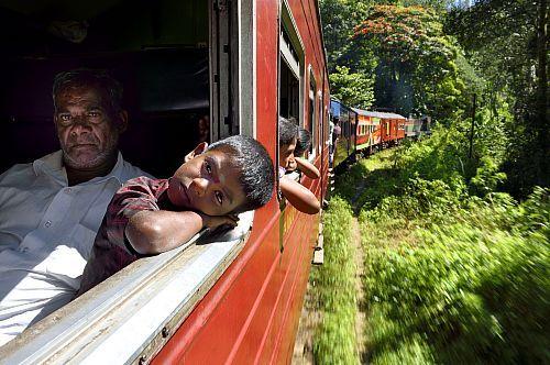 Sri Lanka, Province d'Uva, trajet en train dans la région montagneuse de la culture du thé entre Badulla et Ella  Date prise de vue : 14/12/2014 Crédit : RIEGER Bertrand / hemis.fr