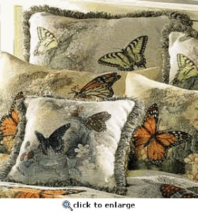 Butterfly Tapestry pillows: Bounty Butterflies, Butterflies Creations, Includ Butterflies, Butterflies Tapestries, Lady Butterflies, Butterflies Cottages, Tapestries Butterflies, Butterflies Pillows, Butterflies Frenzi