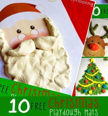 Free printable christmas Playdough mats for kids // Karácsonyi és Mikulás gyurmázólapok gyerekeknek // Mindy - craft tutorial collection // #crafts #DIY #craftTutorial #tutorial #ChristmasCrafts #Christmas