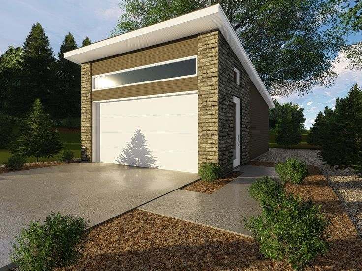 050g 0087 Two Car Garage Plan With Modern Styling 20 X26 Garage Plans Garage Exterior Garage Building Plans