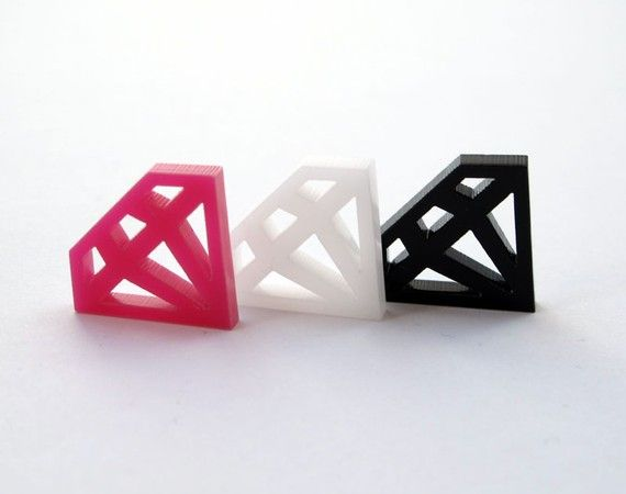 6 Diamond Charms (Qty. 6) - Laser Cut Acrylic - Various Colors on Etsy, $5.00