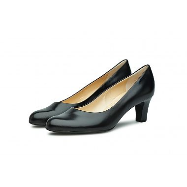 Peter Kaiser Stacked Heel - The ever so gently pointed toe offers an elegant look to this high quality chevro leather court shoe.  For our full collection visit http://www.louisemshoes.com. #louisemshoes