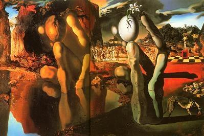Métamorphose de Narcisse (1936) - Huile sur toile 51.1 x 78.1 cm, Salvador Dali