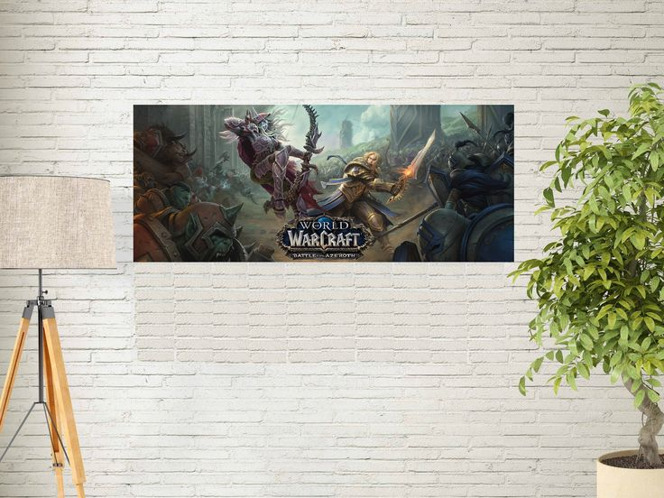 """Excited to share the latest addition to my #etsy shop: World of Warcraft Battle of Azeroth Poster - MMORPG Video Game Art Print -Blizzcon 2017 - Size 13x20"""" 24x36"""" 32x48"""" #2 http://etsy.me/2zvNov8 #music #poster #worldofwarcraft #battleofazeroth #postermmorpg #videogameartprint #"""