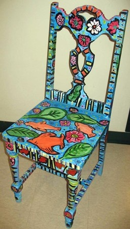 matisse goldfish inspired auction chair