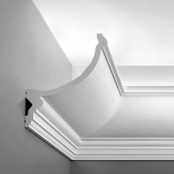"""C900 Crown Molding for Indirect Lighting. Face: 8-13/16"""" Length: 78-3/4"""" ____________________________ Request Your FREE Catalog: http://form.outwater.com/oracusa.php"""