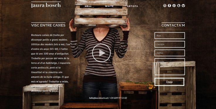 Le joli site web de l'artiste Laura Bosch / The beautiful website of Laura Bosch http://www.laurabosch.cat