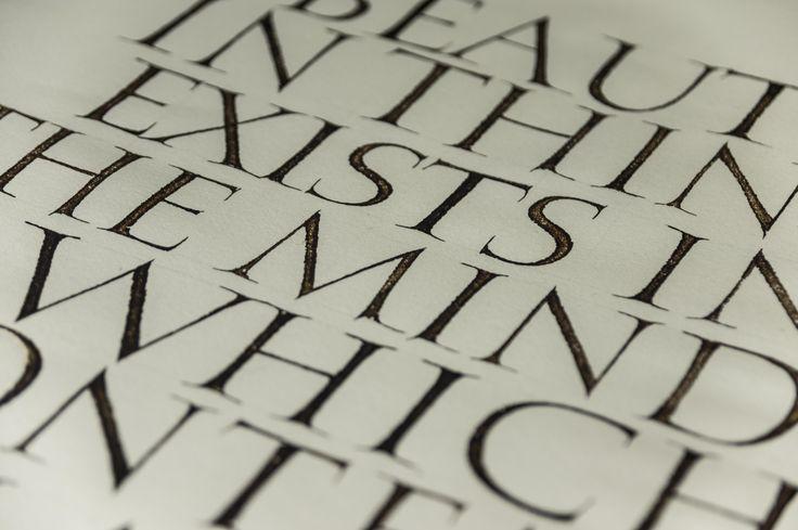 Detail of broad pen capitals
