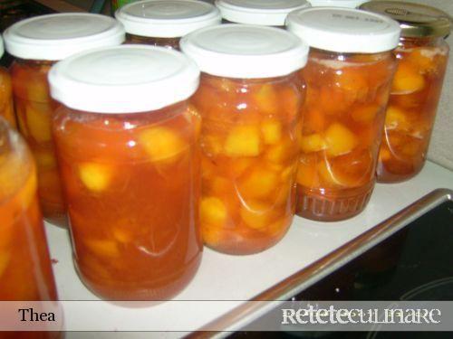 Dulceata de Piersici cu Pepene Galben