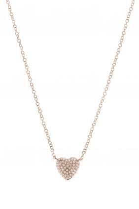 halskette rosegold herz gewoelbt diamanten