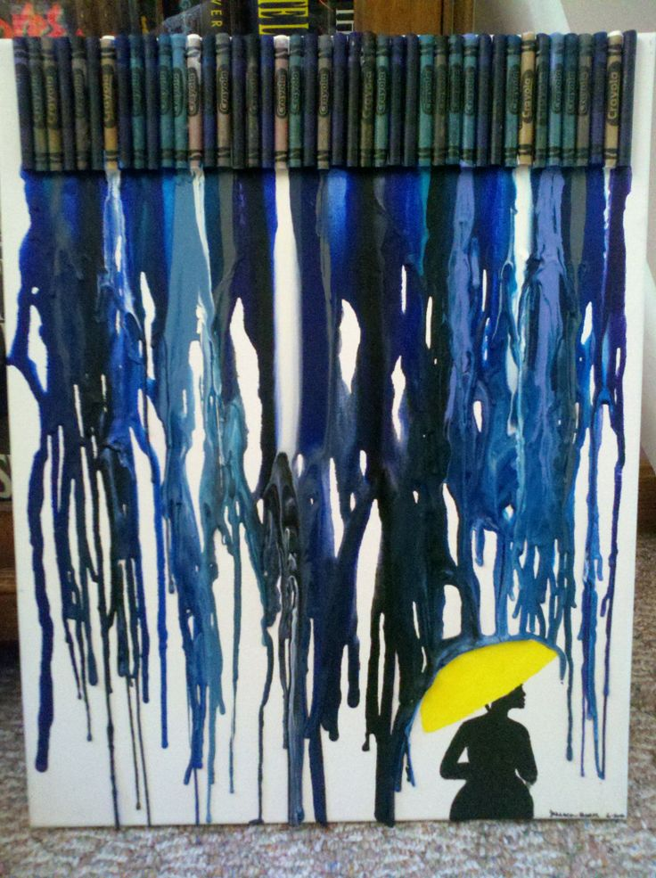 Melted Crayon. How I Met Your Mother inspired