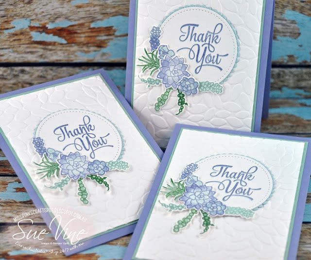 Thank You Oh So Succulent #stampinup
