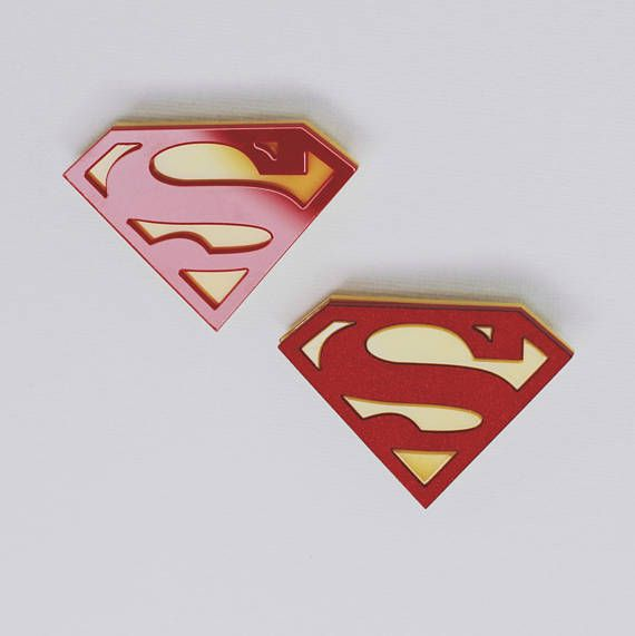 Superman acryic pin DC Comics Justice League Man of Steel