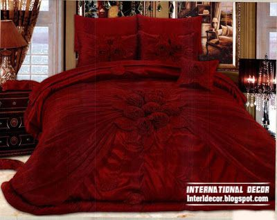 Royal red bedspreads luxurious models 2013