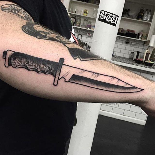 De 25+ Bedste Idéer Inden For Knife Tattoo På Pinterest