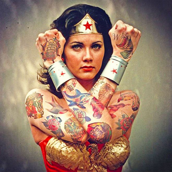 17 best images about tats on pinterest tiny skull for Wonder woman temporary tattoo