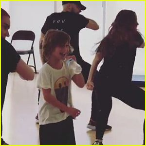 Christina Aguilera's Son Fills In for Her at Dance Rehearsal!