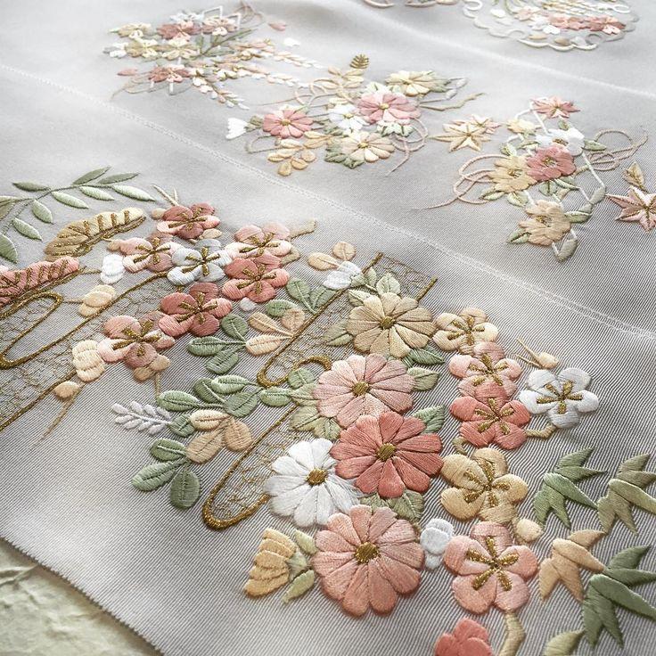 「#正絹刺繍半衿 komamono玖は東京南青山の和装小物セレクトショップです」
