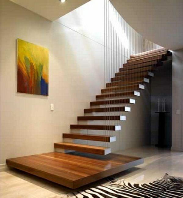Les 25 meilleures id es de la cat gorie escalier flottant sur pinterest des - Changer un escalier en bois ...