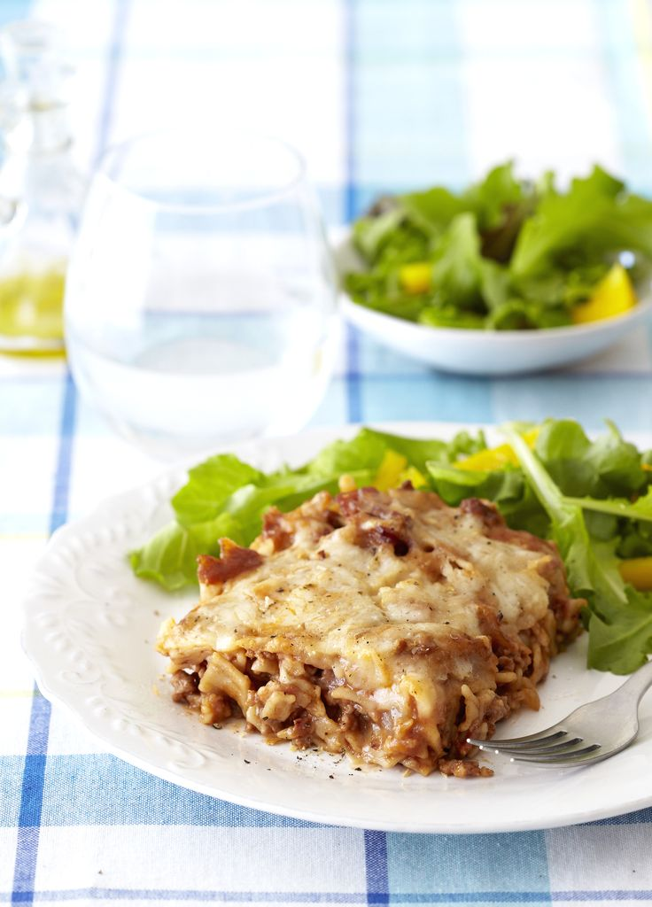 An excellent quick mid-week meal: Decadent Lasagne with Bacon & Parmesan