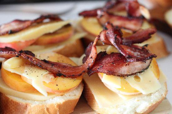 ALL TIME FAV: peach bacon gouda grilled cheese