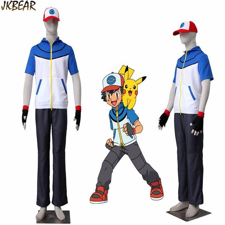 Pokemon GO Cosplay Costume Pokemon Pocket Monster Trainer Female Costume with Hat Blue Adult Women Halloween Cosplay Costume#pokemon trainer costume