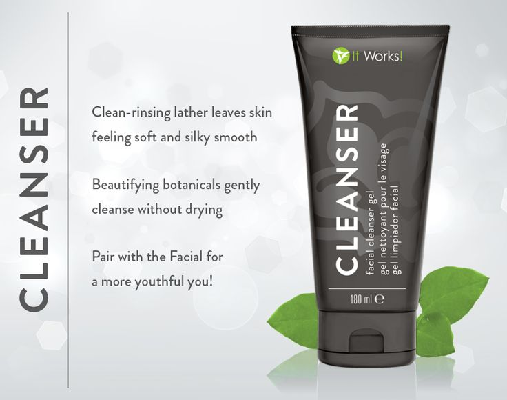 Cleanser- clean rinsing lather