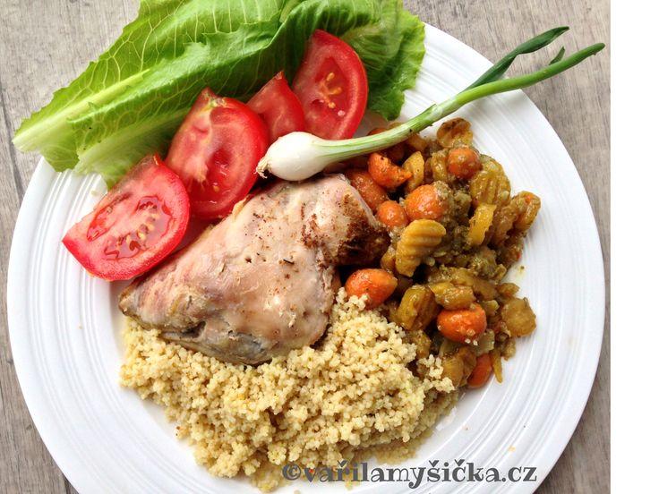 Aby si na své přišli i masožravci. Velmi snadný recept na jídlo se spoustou výborné pečené zeleniny.