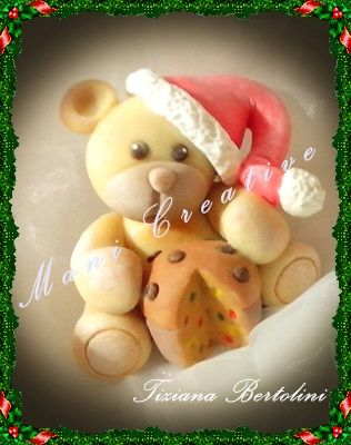 Orsetto natalizio in pasta di mais.