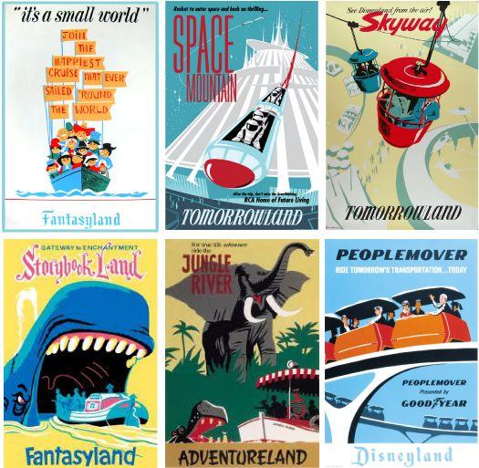 Vintage Disneyland Posters    Perfect in a vintage nursery