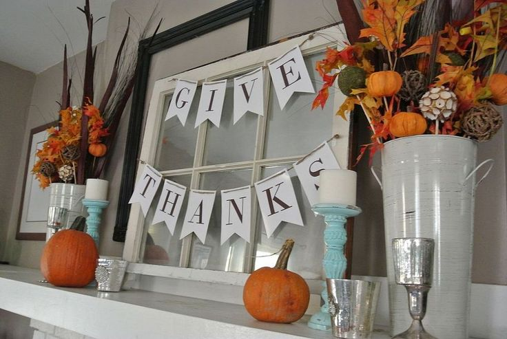 Updated Thanksgiving Mantle Decor