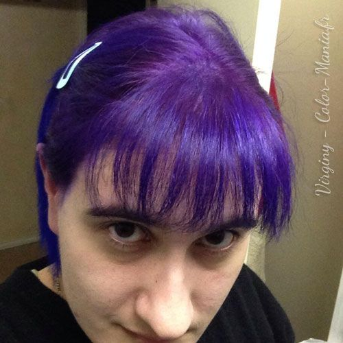 coloration cheveux violet prune directions color mania - Coloration Cheveux Violet