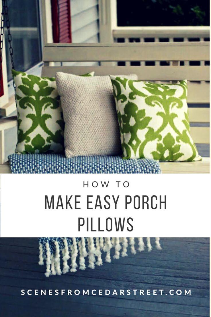 DIY Pillows, DIY pillow cases, DIY decorative pillows