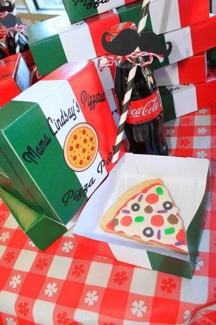 Decorated cookies at a Pizza Birthday Party!  See more party ideas at CatchMyParty.com!